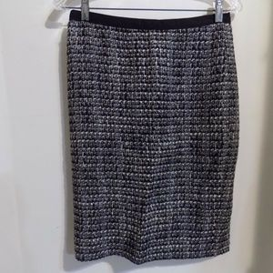 "J. CREW ""No 2 Pencil"" Black and Gray Tweed Skirt"